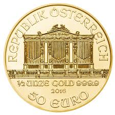 ウィーン金貨 1/2オンス オーストリア造幣局発行2